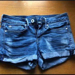 Blue low rise Levi Shorts